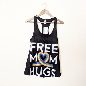 Tops - Free Mom Hugs LGBTQ Ally Graphic Tee Large